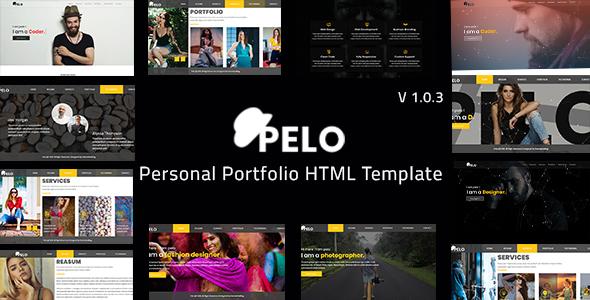 Pelo - Personal Portfolio HTML Template