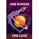 One Burger One Love Cartoon Motivation - GraphicRiver Item for Sale