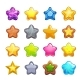 Cartoon Colorful Star Icons Set - GraphicRiver Item for Sale