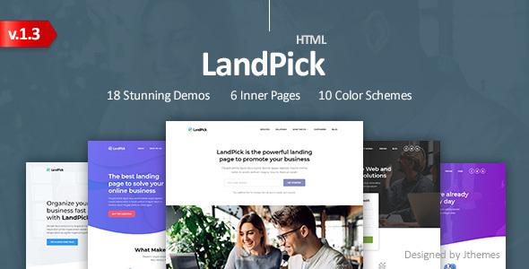 LandPick - Premium Multipurpose Landing Pages Bootstrap 4 HTML Template