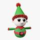 Knitted Elf Christmas Decoration - 3DOcean Item for Sale