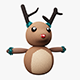 Knitted Reindeer Christmas Decoration - 3DOcean Item for Sale