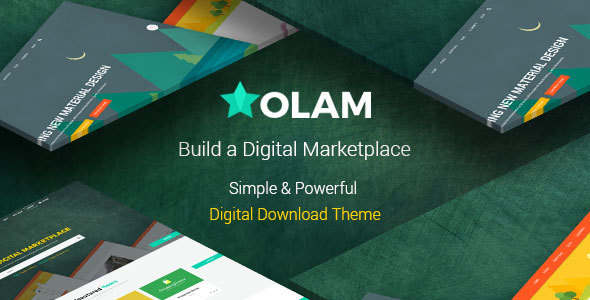 Olam - Easy Digital Downloads Marketplace WordPress Theme