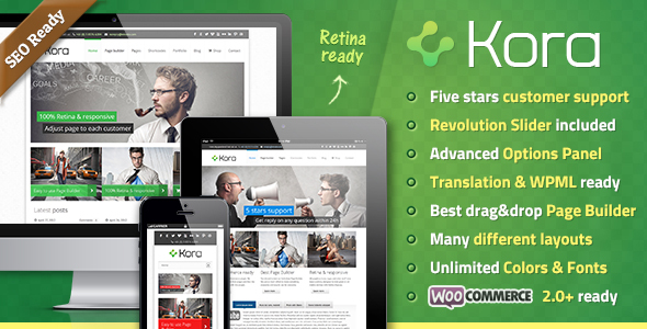 Kora WordPress Theme