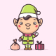 Christmas Elf Kawaii - GraphicRiver Item for Sale