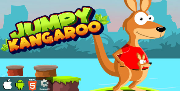 Jumpy Kangaroo - HTML5 Game (CAPX) Download
