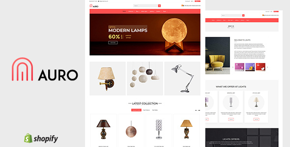 Auro | Hanging, Decorarive Lights Shopify Theme