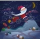 Santa Claus Flying By Magic Bicycle - GraphicRiver Item for Sale