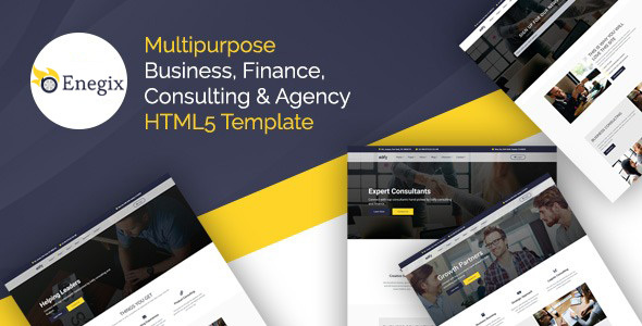 Enegix – Multipurpose Business, Finance, Consultaing & Agency Web Template