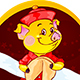 Yellow Earthy Pig with Fortune Cookie for the New Year 2019 - GraphicRiver Item for Sale