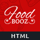 FoodBooz - Minimal Restaurant, Food & Cafe Shop