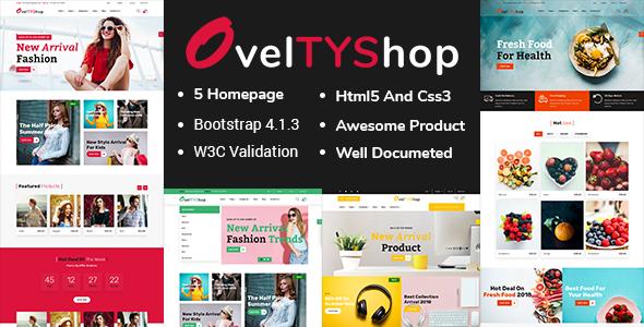 Oveltyshop - ECommerce Responsive Drupal 8 Theme