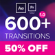 Pixelland transitions Pack - VideoHive Item for Sale