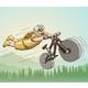 Downhill Mountain Biker from Primal Era - GraphicRiver Item for Sale