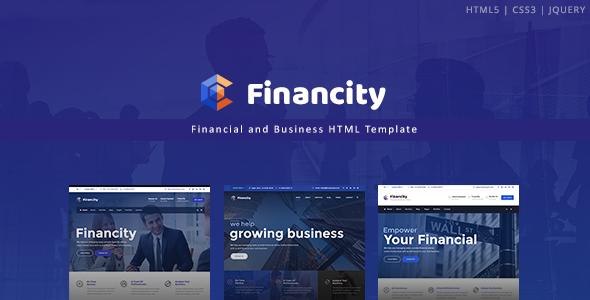 Financity - Business / Financial / Finance HTML Template