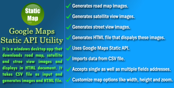 Google Maps Static API Utility