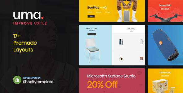 Uma - Minimal Clean Multiple Shopify Theme