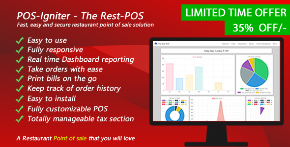POS-Igniter - The Rest-POS - Fast, easy and secure restaurant point of sale solution