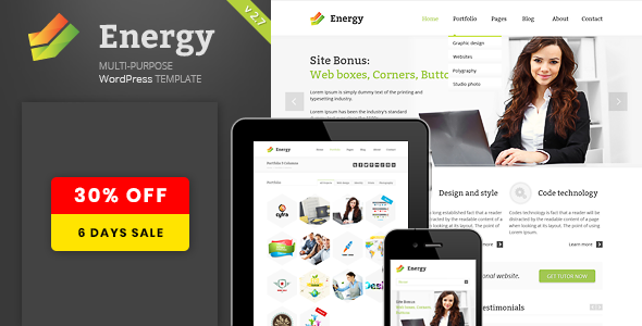 Energy -  Responsive Multi-Purpose Theme