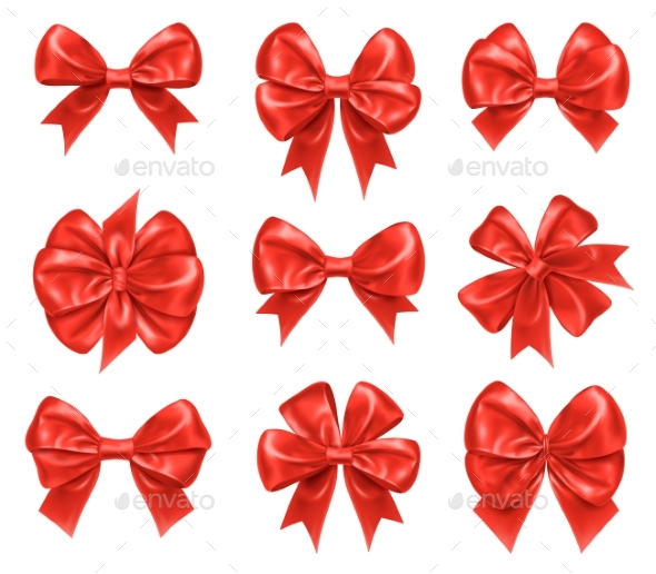 Bow Knots for New Year and Xmas Gift Decorations