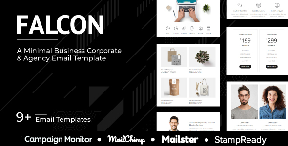 Falcon Agency – Multipurpose Responsive Agency Email Template – StampReady + Mailster + Mailchimp