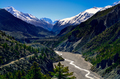Himalayas mountain river valley with peaks in background - PhotoDune Item for Sale