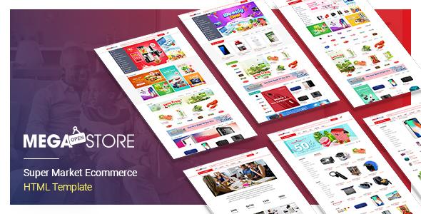 MegaStore - Super Market Ecommerce  HTML Template