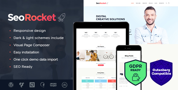 Seo Rocket | Advertising & Marketing WordPress Theme