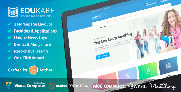 Edukare - Education WordPress Theme for University, School and Academics