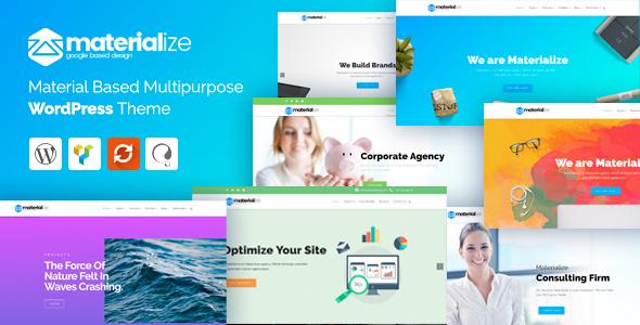 Materialize - Material Design Multipurpose WordPress Theme