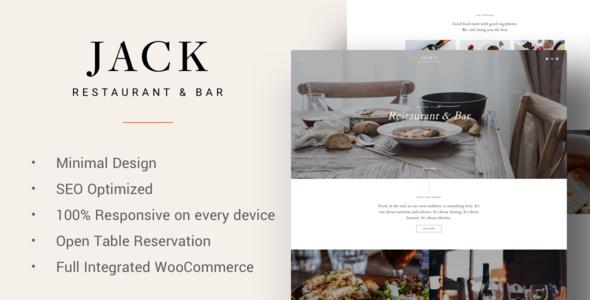 Jack - Restaurant WordPress Theme