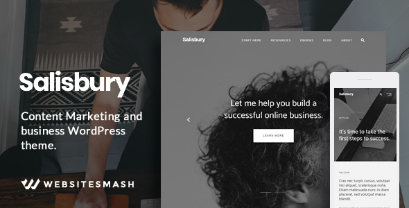 Salisbury - Content Marketing & Business WordPress Theme