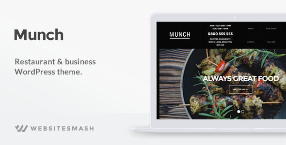 Munch - Restaurant & Business WordPress Theme
