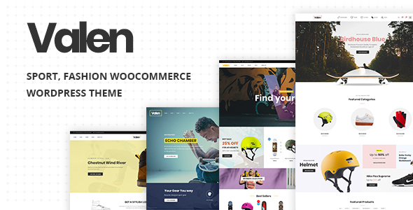 Valen - Sport, Fashion WooCommerce WordPress Theme