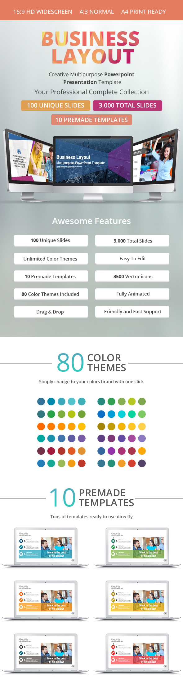Business Layout PowerPoint Presentation Template
