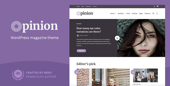 Opinion - Magazine WordPress Theme