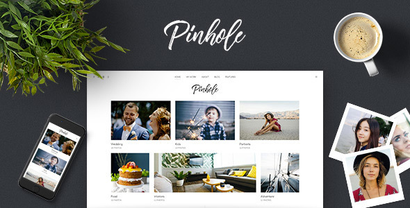 Pinhole - Minimal Photography & Gallery Theme for WordPress