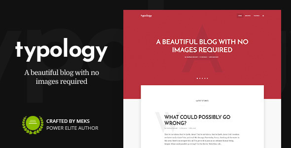 Typology - Text Based Minimal Blog WordPress Theme