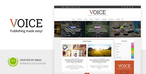 Voice - News Magazine WordPress Theme