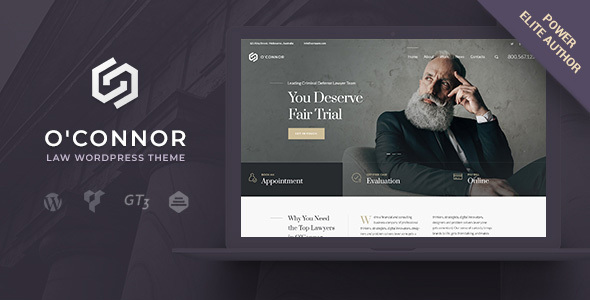 Oconnor | Law Firm & Lawyers Attorneys WordPress Theme