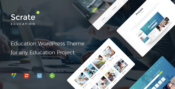 Education and Teaching Online Courses WordPress Theme - Scrate