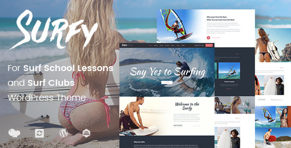 Surf School Lessons and Clubs WordPress Theme - Surfy