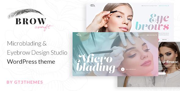 Microblading & Eyebrow Beauty Salon WordPress theme - Browcraft