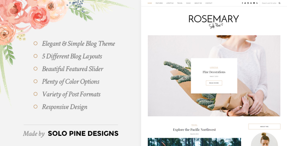Rosemary - responsywny motyw blogowy WordPress