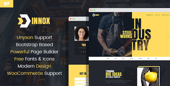 Innox - Industrial WordPress Theme