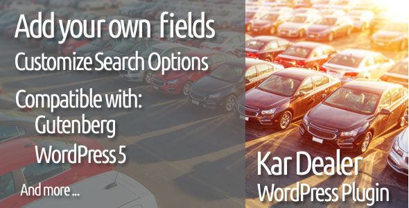 Car Dealer WordPress Plugin Kar Dealer 2021