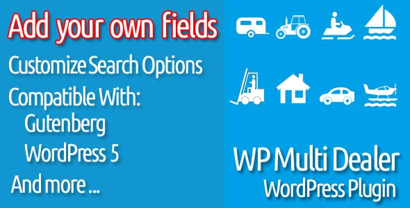 Multi Dealer and Real Estate Agent/Agency WordPress Plugin