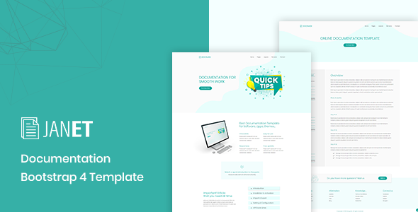 Janet – Online Documentation, Knowledge Base, Help Desk Template