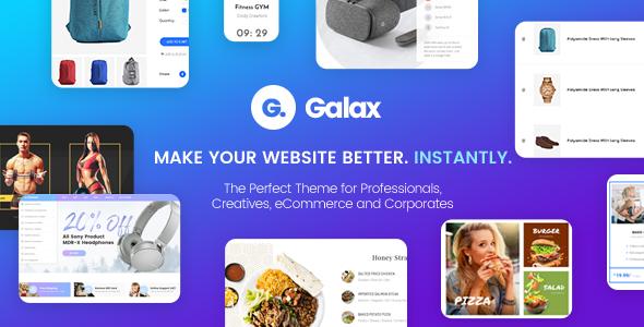 Galax – Creative eCommerce Multi-Purpose WordPress Theme
