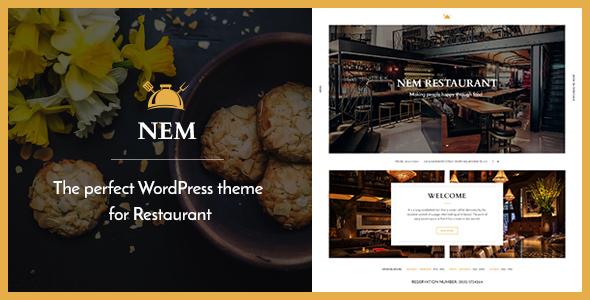 Restaurant WordPress Theme | Restaurant NEM
